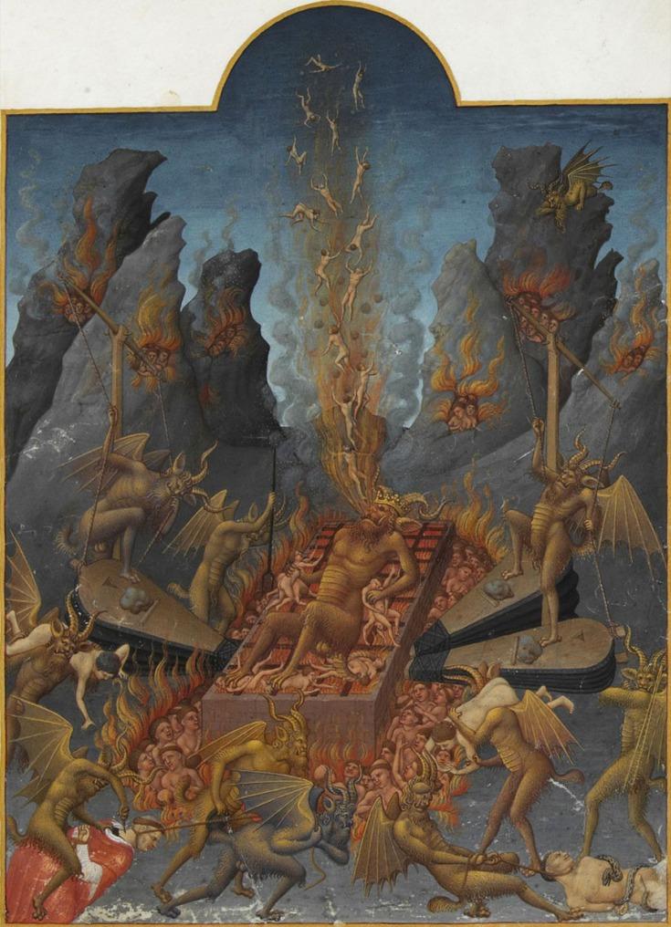 L'enfer, Les Très Riches Heures du duc de Berry, 1411
