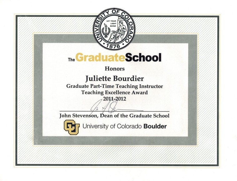 excellence award 2011