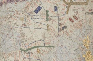 France, detail from Catalan Map, 1375