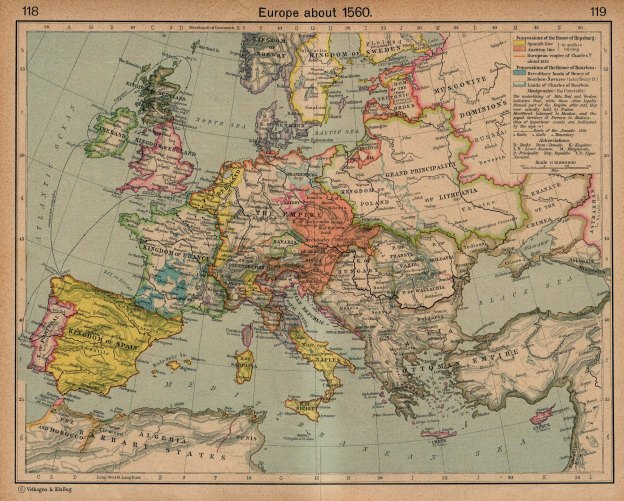 Map europe1560_shepherd