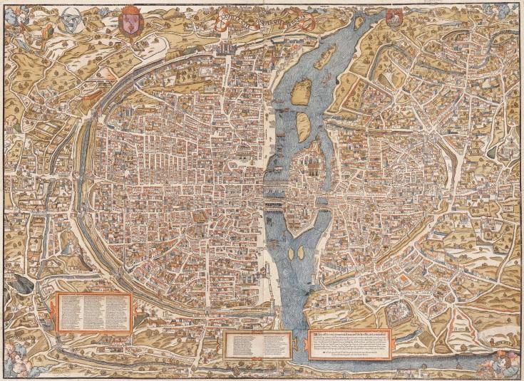 La carte de Paris ca. 1550 (Truschet & Hoyau)