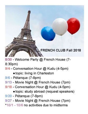 French Club Schedule for the 2018 Fall Semester_Page_1