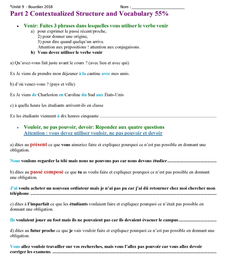 French 201 - Examen Unit 9 2018_Page_2
